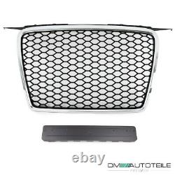 Badgeless Front Grille Grill Honeycomb Chrome Black for Audi A3 8P 8PA 05-08 +RS