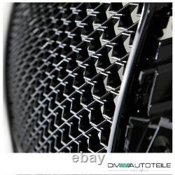 Badgeless Front Grille Honeycomb Black Gloss fits Audi A3 8V 12-16 witho RS3