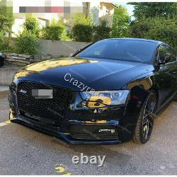 Black A5 Grille Front Mesh Grill for Audi A5 Sline & S5 2012-15 To RS5 Qua Style