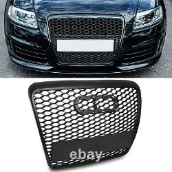 Black Badgeless Debadged A6 To Rs6 Front Sport Mesh Grill For Audi A6 C6 2004-09