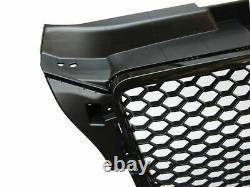 Black Gloss Badge Less Front Grille For Audi A3 8p Facelift Models