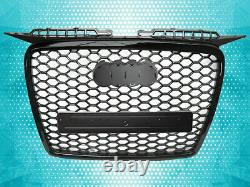 Black Honeycomb Grill Grille For Audi A3 8p 8pa 05-08 S-line Rs Debadged Mesh