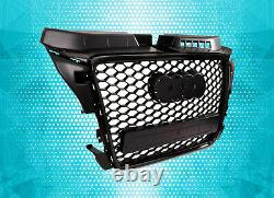 Black Honeycomb Grill Rs Style For Audi A3 8p 8pa 09-12 S-line S3 Debadged Mesh
