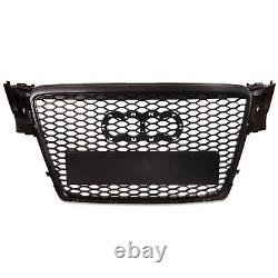 Black Honeycomb Mesh Badgeless Debadged Front Grill Grille For Audi A4 B8 08-12