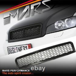 Black Rs Honey-com Style Front Grille For Audi A4 S4 B6 Sedan & Avant