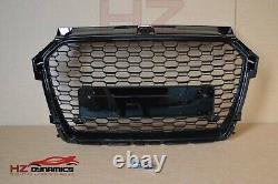 Facelift Gloss Black Grill Badgeless Honeycomb Fit Audi A1 S1 2015 2018 Rs1 Look