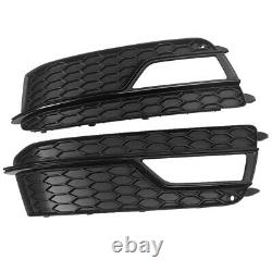Fit for AUDI A5 S-LINE S5 2013-2016 Front Bumper Fog Light Grill Cover Trim PAIR