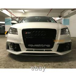Fit for Audi A3 8P & S3 2009-12 Black Front Bumper Grille Mesh Grill To RS Style