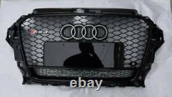 Fit for Audi A3 8V & S3 2014-2016 Front Bumper Grille Mesh Grill To RS Black