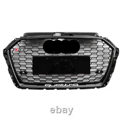 Fit for Audi A3 8V & S3 2017-20 Black Front Bumper Grille Mesh Grill To RS