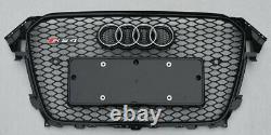 Fit for Audi A4 B8.5 & S4 2013-2016 Black Front Bumper Grille Mesh Grill To RS4