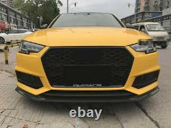 Fit for Audi A4 B9 & S4 2017-2020 Black Front Bumper Grille Mesh Grill To RS