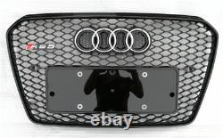 Fit for Audi A5 B8.5 & S5 2012-16 Front Bumper Grille Mesh Grill To RS5 Black