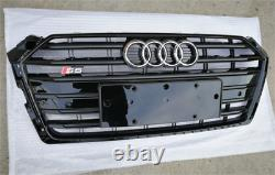Fit for Audi A5 B9 2017-2020 Front Bumper Grille Mesh Grill To S5