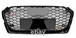 Fit for Audi A5 B9 & S5 2017-2020 Black Front Bumper Grille Mesh Grill To RS