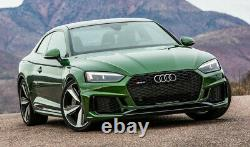 Fit for Audi A5 B9 & S5 2017-2020 Front Bumper Grille Mesh Grill To RS Black