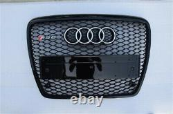 Fit for Audi A6 C6 2005-2011 Black Front Bumper Grille Mesh Grill To RS6