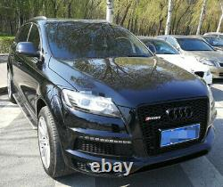 Fit for Audi Q7 4L SQ7 2006-15 All Black Front Bumper Grille Mesh Grill To RSQ7