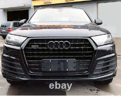 Fit for Audi Q7 4M 2016-2019 All Black Front Bumper Grille Mesh Grill To SQ7