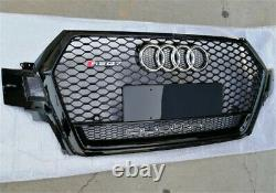 Fit for Audi Q7 4M SQ7 2016-2019 Black Front Bumper Grille Mesh Grill To RS