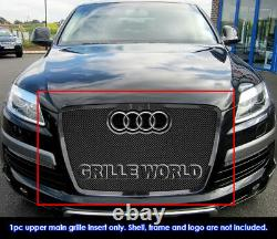 Fits 2007-2015 Audi Q7 Stainless Steel Black Mesh Grille Grill Insert