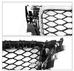 For 09-12 Audi A4 RS4 Style Honeycomb Black/Chrome Grille+Bumper Fog Light Bezel