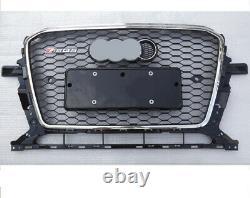 For AUDI Q5 RSQ5 2013 2017 Grille Full Black + Chrome Border Honeycomb