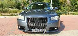 For Audi A3 8P 8PA S-Line Badgeless Mesh Grill Debadged Sport Grill Emblemholder