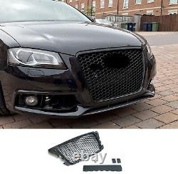 For Audi A3 8P Facelift Badgeless Mesh Grill Debadged Front Grill Emblemholder