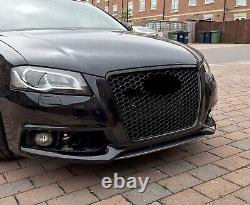 For Audi A3 8P Facelift Badgeless Mesh Grill Debadged Front Grill S RS witho PDC