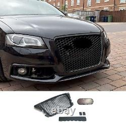 For Audi A3 8P Facelift Badgeless Sport Front Grill Mesh Emblemholder with PDC