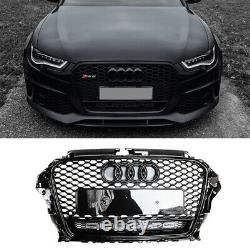 For Audi A3 S3 8V 2013-2016 Front Grill S-Line Honeycomb Grille RS3 Style Black