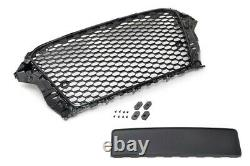 For Audi A3 S3 8V Badgeless Mesh Grill Debadged Front Grill Emblemholder 2012-16