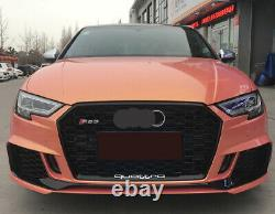 For Audi A3 S3 RS3 Front Black Bumper Grille Honeycomb Mesh Grill 2017 2018