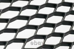 For Audi A4 B7 04-09 Badgeless Mesh Grill Debadged Front Grill Black Silver RS4