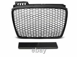For Audi A4 B7 Front Mesh Grille P PERFORMANCE RS LOOK HoneyComb MATT for SE