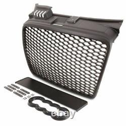 For Audi A4 B7 SE Front Bumper Matt HONEYCOMB Grill/ Grille RS Look