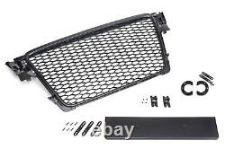 For Audi A4 B8 8K Pre-Facelift Badgeless Mesh Grill Debadged Sport Front Grill