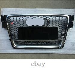 For Audi A4 B8 Front Grille S4 RS4 Mesh 2009 -12 Quattro Chrome Black Silver