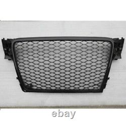 For Audi A4 B8 Front Grille S4 RS4 Without Emblems 2009 2012 Chrome or Black