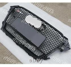 For Audi A4 S4 B8.5 2013 2014 2015 Grill RS4 Type Honeycomb Sport BLACK Grille