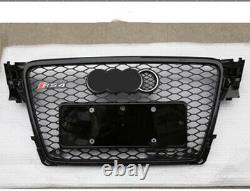For Audi A4 S4 B8 RS4 Style Front Henycomb Mesh Bumper Grill 2009-12 2011 2010