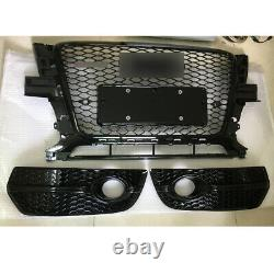 For Audi Q5 2009-2012 RSQ5 Style Honeycomb Grille + Fog Light Lamp Cover Grill