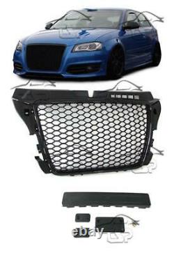 Front Black Grill For Audi A3 8p 08-12 Rs Look Spoiler Body Kit New Griglia