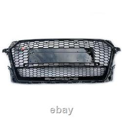 Front Bumper Grill Grille for Audi TT 8S TTS 2015-2019 To RS Style Gloss Black