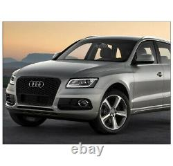 Front Bumper Honeycomb Mesh RSQ5 Style Grille Glossy Black For 2013-2017 Audi Q5