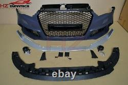 Front Bumper With Badgeless Grill For Audi A3 8v Saloon 2013 2015 Rs3 Look Pp