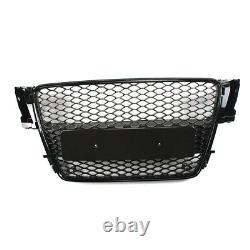 Front Grill Upper Bumper Grille All Black For Audi A5 S5 B8 RS5 Style 2008-2012