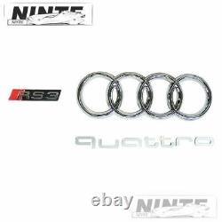 Front Grille For 2017-2019 Audi A3 S3 8V Honeycomb Grill Gloss Black RS3 Style