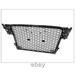 Front Mesh Rs4 Style Bumper Hood Hex Grille Black For 2009-2012 Audi A4/s4 B8 8t